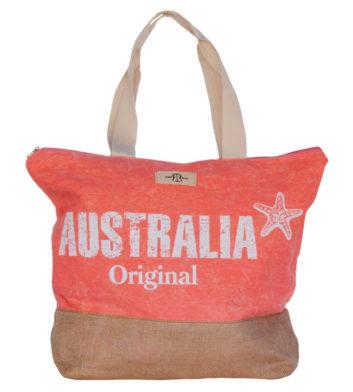 Pink Australia Beach Bag
