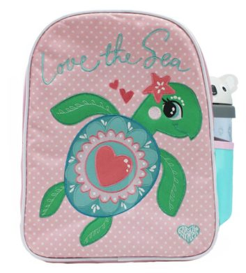 Floral Turtle Girls Backpack