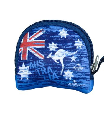 Australian Flag & Kangaroo Coin Bag