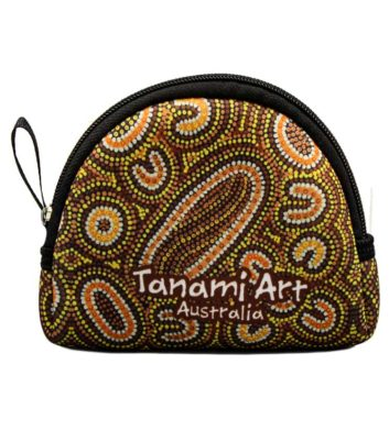 Aboriginal Coin Bag Brown