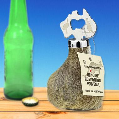 Kangaroo Scrotum Bottle Openers