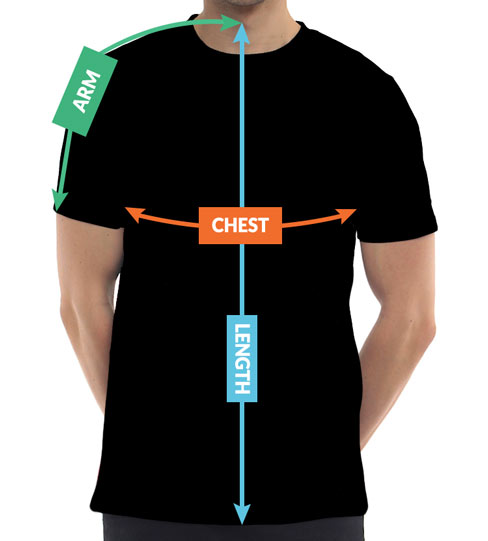 Mens Australia T-Shirts Sizing