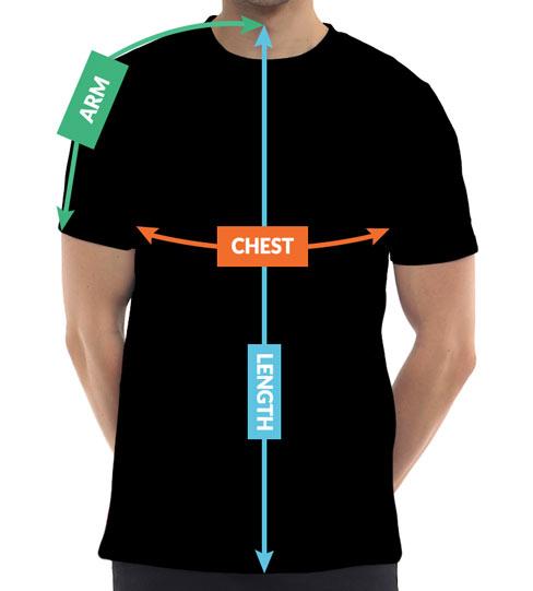 Mens Australia T-Shirts Sizing